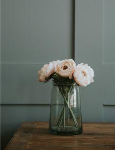 Abigail Ahern Pale Pink Ranunculus Stem at Rose & Grey