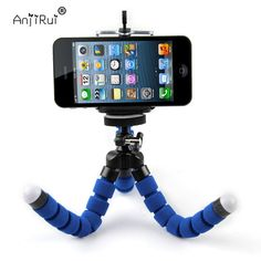 Blue Portable Phone Holder Digital Camera Flexible Octopus Tripod Bracket Selfie Stand Mount Monopod For Mobile Phone, Samsung Cameras Phone Tripod, Camera Tripod, Cell Phone Stand, Cell Phone Holder, Samsung Photos, Bluetooth Remote, Point And Shoot Camera, Nikon Dslr, Sony Camera