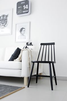 Via Ale Besso | HAY Chair | Karlsson Clock | Black and White