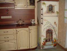 Unod a hűtődet? Akrilfestéssel dekorált hűtő