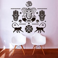 Wall Decals Buddha Hand Hamsa Elephant Indian Oum Om Decal Vinyl Sticker Home Decor Interior Design Art Bedroom Yoga Studio MN424 wall decals vinyl decal Hand Hamsa Indian Buddha Ganesh Vibes Hamsa wall decal hamsa vibes indian home decor bedroom decal monkey studio wall decor hamsa wall art Buddha wall decal 24.99 USD #goriani
