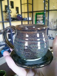 Check out this item in my Etsy shop https://www.etsy.com/listing/227367094/mug-and-saucer-by-angela-graham    Price reduction!