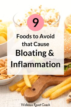 Foods That Cause Bloating - Wellness Reset Foods That Help Bloating, Help With Bloating, Anti Bloating, Prevent Bloating, Abdominal Bloating, Good Foods To Eat, Foods To Avoid, Clean Eating Meal Plan, Clean Eating Recipes