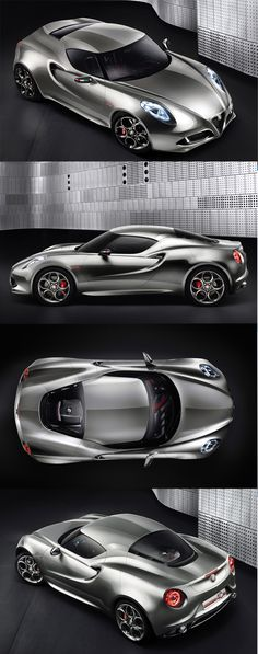 Alfa-Romeo-4C-Concept Some of the concept cars that have been made by the Italian Alfa Romeo company. Best Car Ever. Love Red heart and soul, best sport jot car. Sexy, StanPatzitW