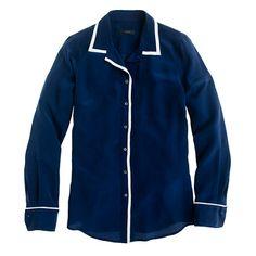 Jcrew Petite tipped boy shirt $98.00 (promo code style30)
