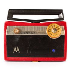 Mod Radio: Vintage Red Motorola Speaker.