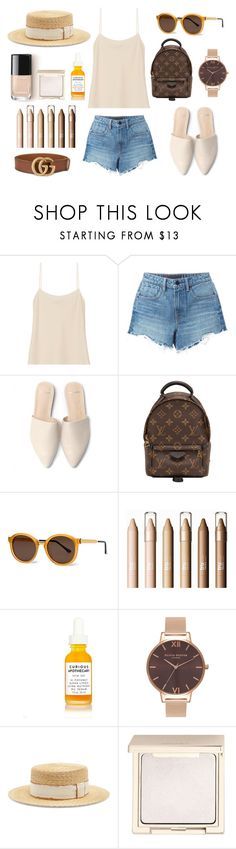 """""""running over"""" by ballereyna ❤ liked on Polyvore featuring The Row, Alexander Wang, Louis Vuitton, Thierry Lasry, Olivia Burton, Filù Hats, Jouer and Gucci"""