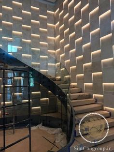 Incredible Cool Tips: Contemporary House Stairs casual contemporary living room.Contemporary Painting On Canvas. Staircase Wall Decor, Stair Walls, Staircase Design, Spiral Staircase, Luxury Staircase, Rustic Contemporary, Contemporary Bedroom, Contemporary Garden, Contemporary Furniture