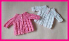 Nina Baby Jacket By Marianna - Free Knitted Pattern - (mariannaslazydaisydays.blogspot)