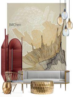 Interior Design Boards, Interior Design Inspiration, Furniture Design, Art Nouveau, Art Deco, Moodboard Interior, Interior Design Presentation, Design Palette, Interior Concept