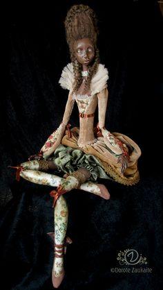 Tireless Artist OOAK Ribbon-JOinted Doll Eve.