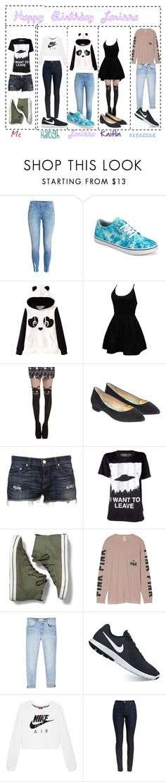 """Happy Birthday Larissa"" by virusandglitches ❤ liked on Polyvore featuring Vans, WithChic, Hot Topic, Giannico, rag & bone, Keds, Victoria's Secret, MANGO, NIKE and Barbour"