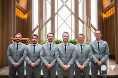 Allison JT Fort Worth Wedding DFW Marty Leonard Chapel November fall autumn Marquis  on Magnolia purple gray architecture lace Fay Jones Photo La Vie groomsmen suits