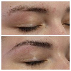 Before and after - Brow shape and tint
