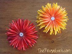 Flower magnets DIY