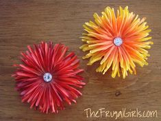 Flower magnets DIY