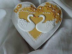 Dekorácie - Svadobné medovníkové srdiečko - 7215263_