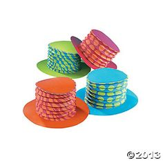 bright accordian top hats