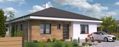 The floor plan of bungalow is designed in such a way that all the space is completely utilized while there is a lot of storage space at the same time. This bungalow offers 3 bedrooms on a total floor area of 115 Construction Drawings, Construction Cost, Site Plan Drawing, 3 Bedroom Bungalow, Wood Cladding, House Elevation, Concrete Blocks, Built In Wardrobe, Storage Spaces