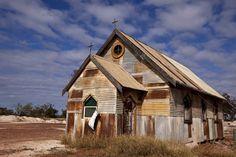 old tin church ♥ outback Australia
