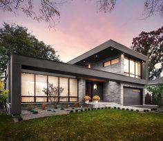Architecture Design, Modern Architecture House, Residential Architecture, Modern House Design, Modern Exterior, Exterior Design, Midcentury Modern, House Styles, Toronto Canada