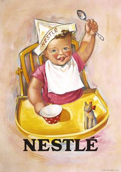 Nestle Chocolate Poster Plakat 1930s