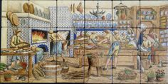 images delft kitchens | Julia matched up the colors in the painting with the samples provided ...