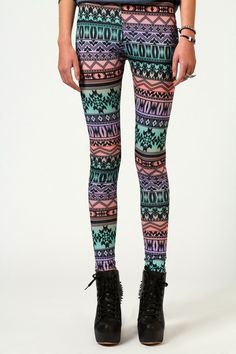 Cheap Leggings On Sale At Boohoo's Leggings Sale Leggings Sale, Cheap Leggings, Aztec Print Leggings, Printed Pants, Online Shopping Clothes, Latest Fashion Trends, My Style, How To Wear, Boohoo
