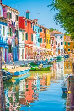 Burano: The Most Colorful Town in Europe If you're planning a trip to Venice, you *do not* want to miss this incredible little island nearby. Here's your guide to the most colorful town in Europe!