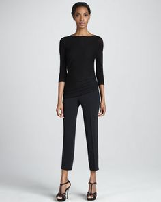 Cropped Ankle Pants, Black by Etro at Bergdorf Goodman.