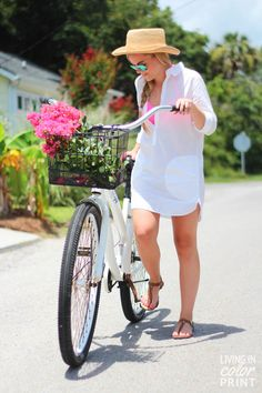 Riding to the Beach | Living In Color Print