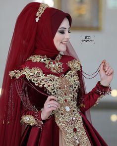 Fancy Hijab Accessories Fashion for Formal Function – Girls Hijab Style & Hijab Fashion Ideas Hijab Gown, Hijab Evening Dress, Hijab Style Dress, Bridal Hijab, Hijab Bride, Pakistani Bridal Wear, Muslimah Wedding Dress, Hijab Wedding Dresses, Bridal Dresses