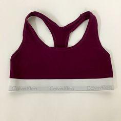 Calvin Klein Bralette Burgundy Bralette, racer back. Worn once. Calvin Klein Intimates & Sleepwear Bras