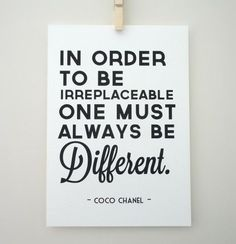 I believe being different is better