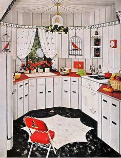 """Vintage """"birdcage"""" design kitchen"""