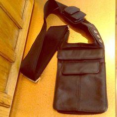 Leather Passport Traveler Bag