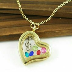 Gold Heart Music Memory Locket New Fashion Jewelry  Jewelry Necklaces