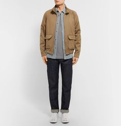 <a href='http://www.mrporter.com/mens/Designers/APC'>A.P.C.</a>'s blouson jacket is made from cotton and linen-blend twill that repels water, making it a neater and more casual alternative to classic raincoats. It's designed with comfortable raglan sleeves and an elasticated hem that creates subtle volume throughout the body. Wear it over shirts and sweaters alike.