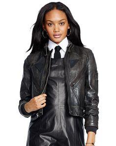 Leather Full-Zip Jacket - Polo Ralph Lauren Jackets - RalphLauren.com
