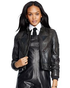 Leather Full-Zip Jacket - Polo Ralph Lauren Jackets - RalphLauren.com
