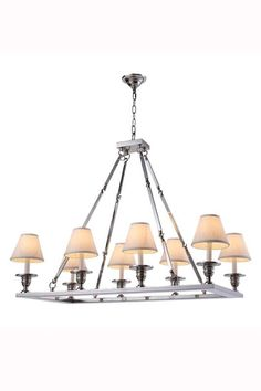 "Elegant Lighting 1403G38 Franklin 38"" Wide 8 Light Chandelier from the Urban Cla Polished Nickel Indoor Lighting Chandeliers"