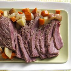 Slow-Cooked Corned Beef Recipe -It's not luck; it's just an amazing Irish recipe. With this in the slow cooker by sunrise, you can bet to fill seats at the dinner table by sundown. —Heather Parraz, Rochester, Washington