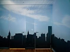 """Abelardo Morell, """"Camera Obscura: Late Afternoon View of the East Side of Midtown Manhattan"""" 2014  Source: houkgallery.com"""