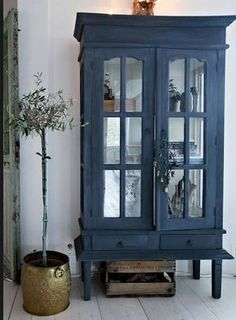 my scandinavian home: A lovingly renovated Norwegian home dating back to the >matte grey/blue cabinet Scandinavian Home, Norwegian House, House Interior, Furniture, Furniture Makeover, Home, My Scandinavian Home, Painted Furniture, Home Decor