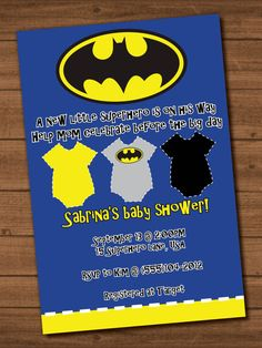 High Quality Boyu0027s Batman Baby Shower Invite File By STandSDesigns On Etsy