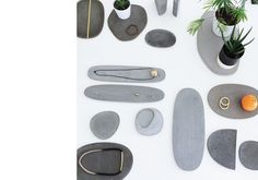 concrete trays/trivets by MAD mad--work.com