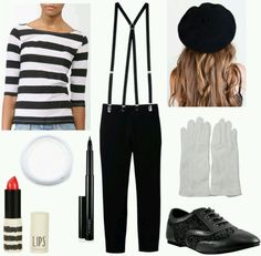 Mime Costume!! #Halloween