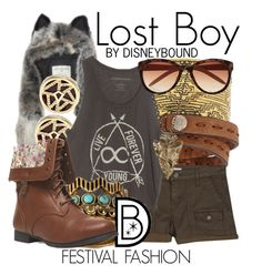 """Lost Boy"" by leslieakay ❤ liked on Polyvore featuring Wet Seal, Fendi, Joie, Belle Noel by Kim Kardashian, Lucky Brand, Pamela Love, River Island, women's clothing, women and female"