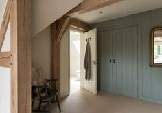 Border Oak - Show House - fitted wardrobes in the Master Bedroom.