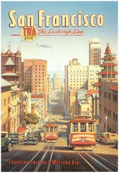 Vintage Travel Poster - USA - San Francisco
